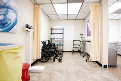 Wheelchairs, crutches and a walker