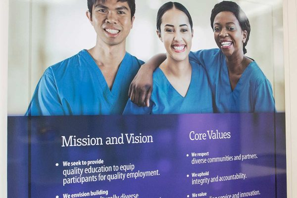 Mission and Vision, Core Values poster